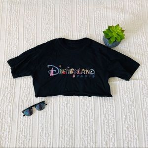 Disneyland Paris Hand Cropped Tee